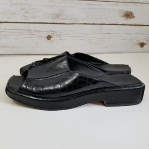 Cole Haan | Square toe open toe faux croc